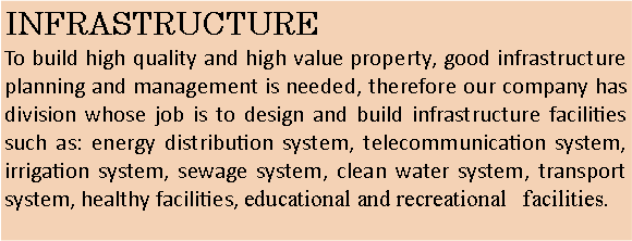 Text Box: INFRASTRUCTURE